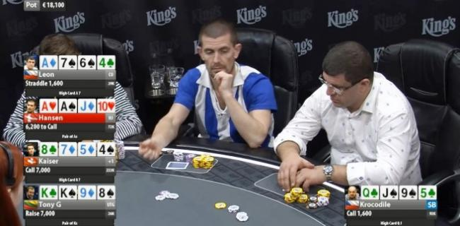 Gus Hansen kings casino cash game