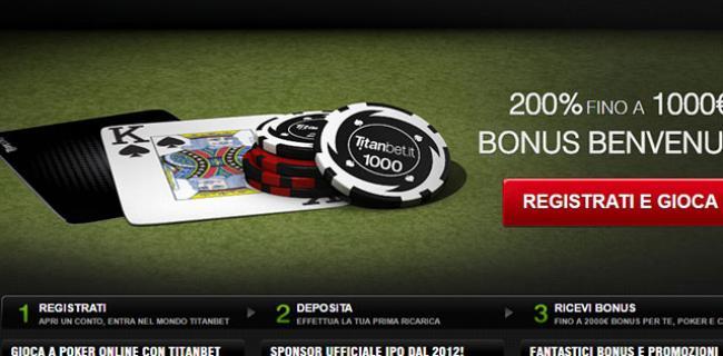 ottenere Titanbet Bonus Poker Senza Deposito
