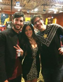 Romina with Kanit and Sammartino