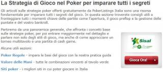strategie poker