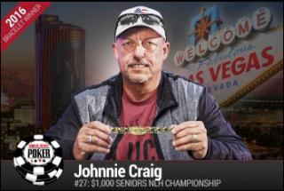 JOHNNIE CRAIG WSOP SENIORS CHAMPIONSHIP