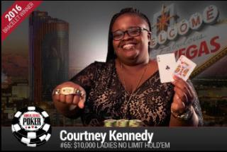 COURTNEY KENNEDY LADIES WORLD POKER CHAMPION