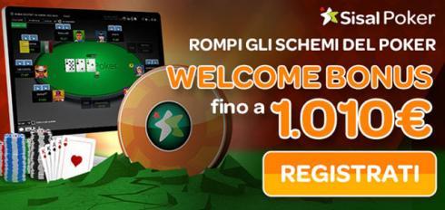 bonus benvenuto poker senza deposito sisal