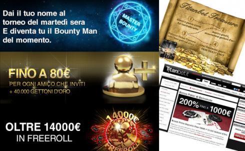 migliori promozioni poker online titanbet