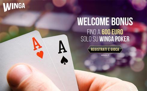 bonus benvenuto poker senza deposito su Winga