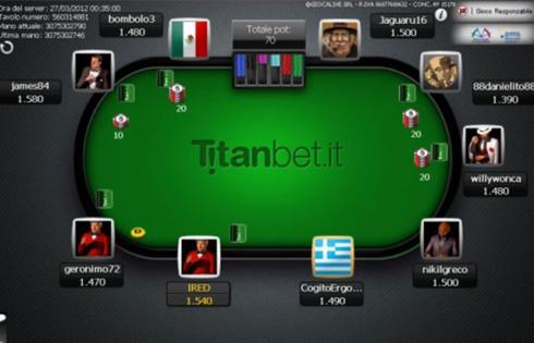 Siti per giocare a Poker Online titanbet