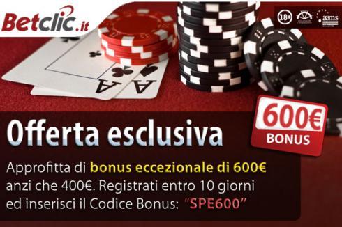 Ottieni il Betclic Bonus di Poker Senza Deposito