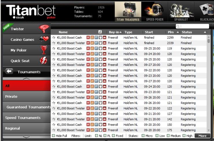 Online poker freeroll list