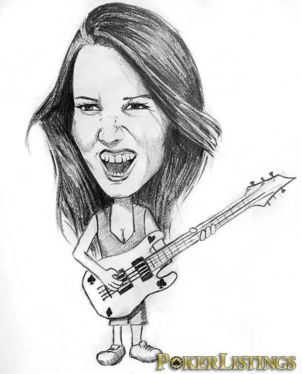 caricatura Liv Boeree