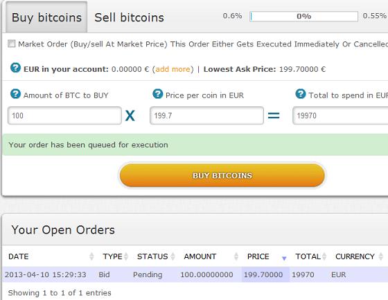 bitcoin ordini