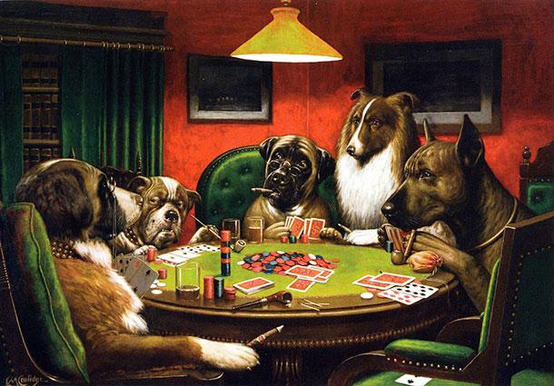 Cani che giocano a poker  /><h2 style=
