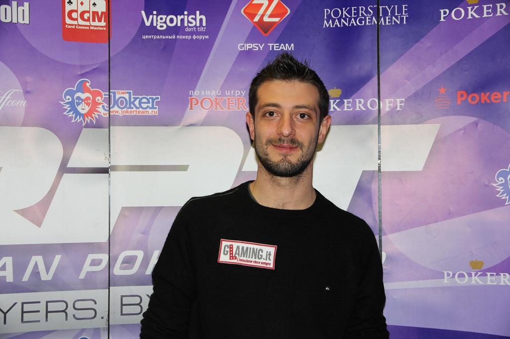 Andrea Dato al Russian Poker Tour