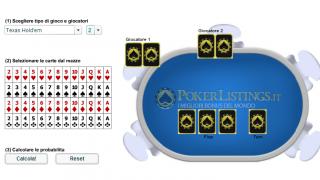 Calcolatore di Probabilita nel poker online