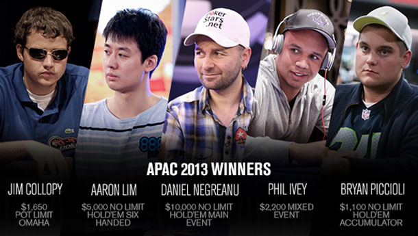 vincitori wsop apac 2013